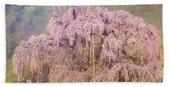 Beach Towel featuring the photograph Miharu Takizakura Weeping Cherry09 by Tatsuya Atarashi