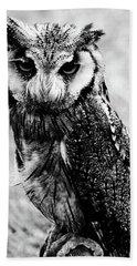 Portrait Of Bird Of Prey  Beach Sheet