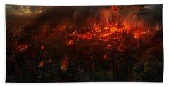 9042 1 Other S Fire Destruction Beach Towel