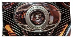 Beach Towel featuring the photograph 96 Cubic Inches Softail by Randy Scherkenbach