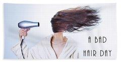 A Bad Hair Day Beach Sheet