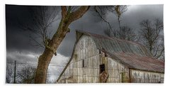 A Barn In The Storm 2 Beach Towel