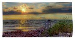 A Beachy Sunset Beach Towel