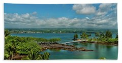 A Beautiful Day Over Hilo Bay Beach Towel