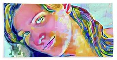 A Beautiful Girl Beach Towel by Jann Paxton