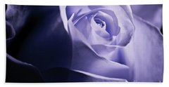 A Beautiful Purple Rose Beach Towel