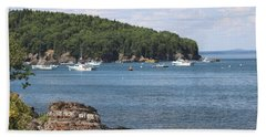 Beach Sheet featuring the photograph A Beautiful View Of Bar Harbor by Living Color Photography Lorraine Lynch