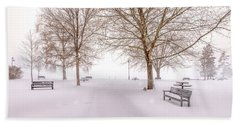 Beach Sheet featuring the photograph A Beautiful Winter's Morning  by John Poon