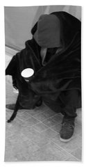 A Beggar In Jerusalem Beach Towel
