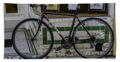 A Bicycle In The French Quarter, New Orleans, Louisiana Beach Towel