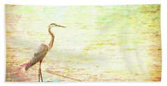 A Bird In The Hand Beach Towel by Wade Brooks