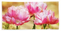 A Bouquet Of Tulips Beach Towel by Trina Ansel