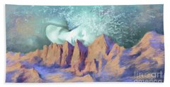 Beach Sheet featuring the painting A Breath Of Tranquility by S G