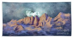 Beach Towel featuring the painting A Breath Of Tranquility by Sgn