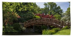 Beach Towel featuring the photograph A Bridge To Cross by Andrea Silies