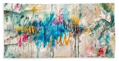 Beach Towel featuring the painting A Broken Love Story Fabio And The Goddess by Tracy Bonin