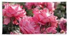Beach Towel featuring the photograph A Bunch Of Pink by Laurel Powell
