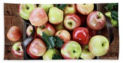 A Bushel Of Apples  Beach Towel by Stephanie Frey