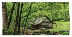 A Cabin In The Woods Beach Towel