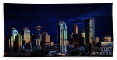 Beach Towel featuring the photograph A Calgary Sunrise by Brad Allen Fine Art