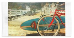 A California Postcard Beach Towel