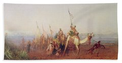 A Caravan On The Way To Cairo Beach Towel by Felix Ziem