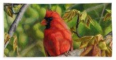 A Cardinal Named Carl Beach Towel