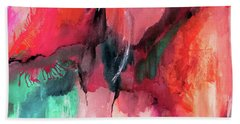 A Change Of Color Abstract By Lisa Kaiser Beach Sheet