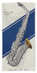 A Charles Gerard Conn Eb Alto Saxophone Beach Towel by American School