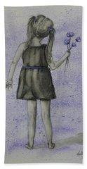 Child N' Flowers Beach Towel by Kelly Mills