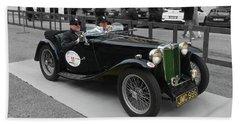 A Classic Vintage British Mg Car Beach Sheet