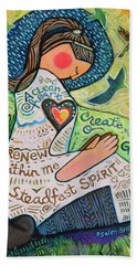 A Clean Heart Beach Towel