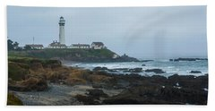 A Cloudy Day At Pigeon Point Beach Towel