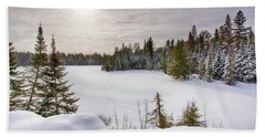 A Cold Algonquin Winters Days  Beach Towel