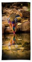 A Cold Drink - Mandarin Drake Beach Towel