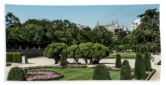 Colorfull El Retiro Park Beach Towel