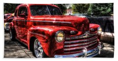 A Cool 46 Ford Coupe Beach Towel