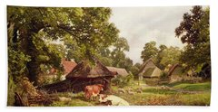 A Cottage Home In Surrey Beach Towel by Edward Henry Holder