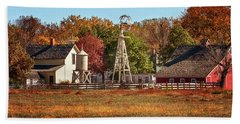 Beach Towel featuring the photograph A Country Autumn by Susan Rissi Tregoning