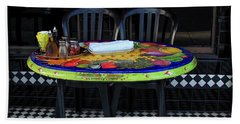 A Cozy Table For Two Beach Towel