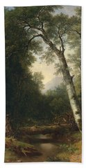 A Creek In The Woods Beach Towel