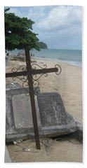 A Cross To Bear Beach Sheet by Robert Margetts