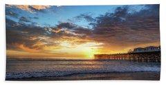 A Crystal Sunset Beach Towel