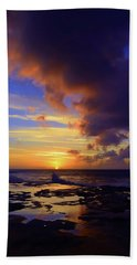 Beach Towel featuring the photograph A Dark Cloud Among Colour by Tara Turner