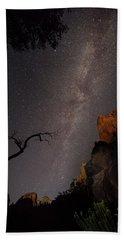 A Dark Night In Zion Canyon Beach Towel