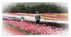 A Day Amongst The Tulips Beach Towel