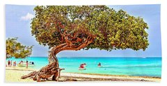 Beach Towel featuring the photograph A Day At Eagle Beach by DJ Florek