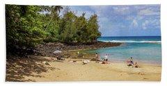 A Day At Ke'e Beach Beach Towel