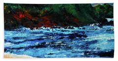 A Day At The Lake In Austin Texas Beach Towel