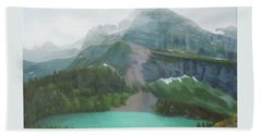 A Day In Glacier National Park Beach Towel
